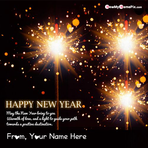 Happy New Year Image With Name Greeting Photo Create Online