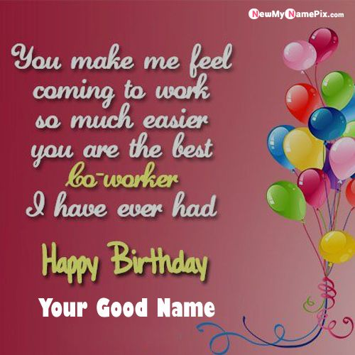 Many Happy Returns Of The Day Wish Card Name Picture - New My Name Pix