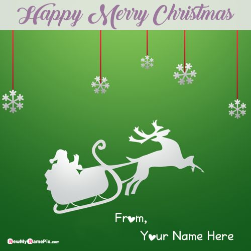 Christmas Wishes Image With Name Greeting Card Create Online Free