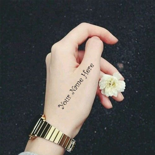 Beautiful Cool Girl Hand Writing Your Name Dp Picture