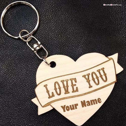 Heart in i love u key chain with name profile pictures download
