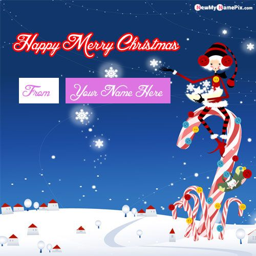 Beautiful Christmas Wishes Images With Name Create Card Download