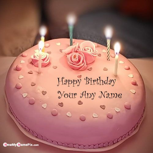 Stupendous Write Your Name On Candles Birthday Wish Cake Name Pictures My Personalised Birthday Cards Epsylily Jamesorg
