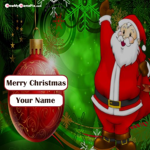 Print Name Christmas Wishes Santa Claus Image Sending Free