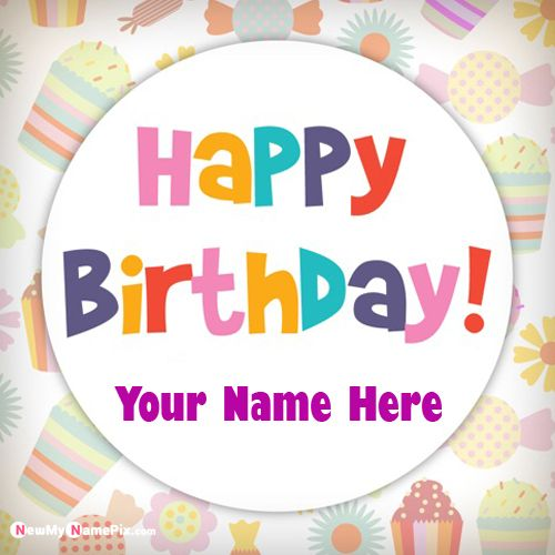 Happy birthday wishes greeting wish card with name picture