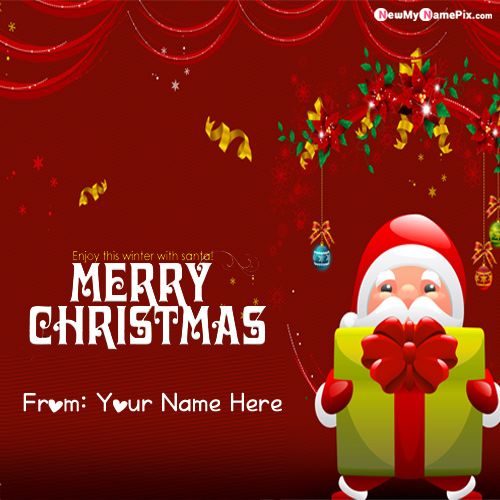 Christmas Eve Wishes Photo With Name Create Cards Online