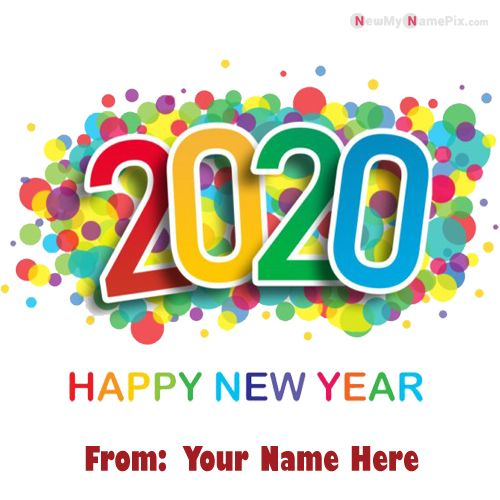 Create Personal Name Add New Year Design Card Photo Free