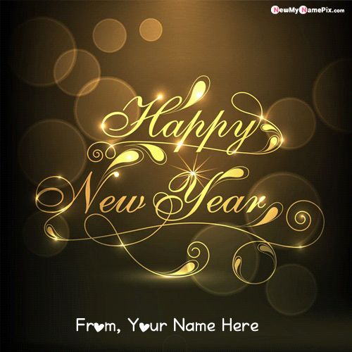 Design New Year Wishes Photo With Name Card Create Online