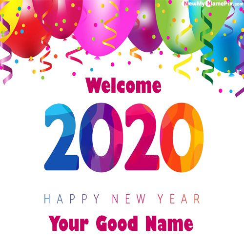 Special Name Writing Happy New Year 2020 Images