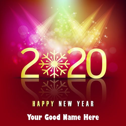 Awesome New Year 2020 Wishes Name Pix Greeting Image