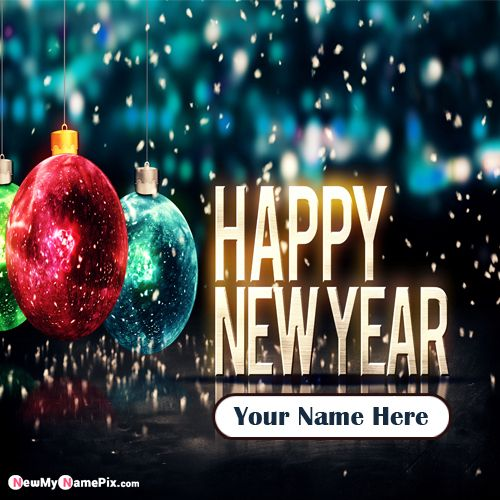 My Name Happy New Year 2020 Greeting Card Create Online