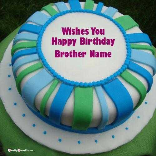 Special brother name birthday cake create image online