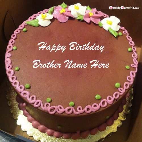 Chocolate birthday cake for brother name and photo free create