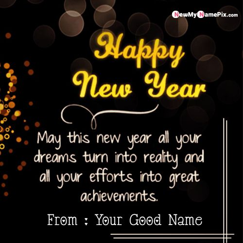 2020 New Year Wishes Greetings Message With Name And Photo Create