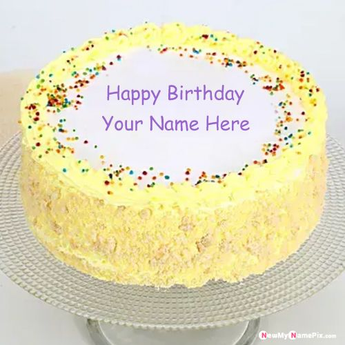 Birthday wishes beautiful designing cake on your name