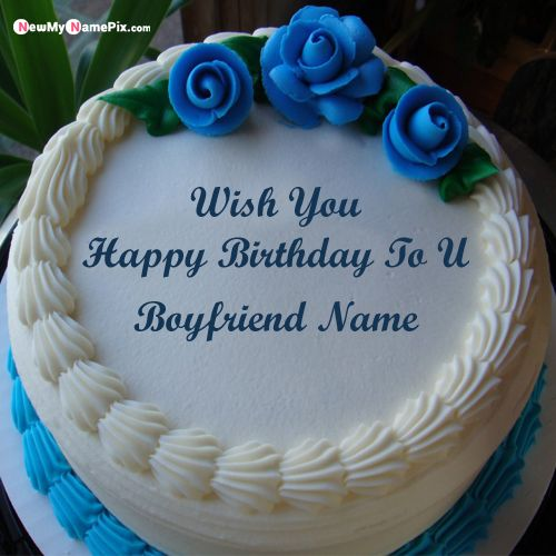Rose birthday cake for boyfriend wishes special images create