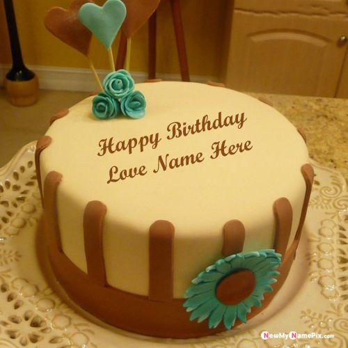 Tremendous Beautiful Birthday Cake Image For Love Name Photo Wishes Funny Birthday Cards Online Elaedamsfinfo
