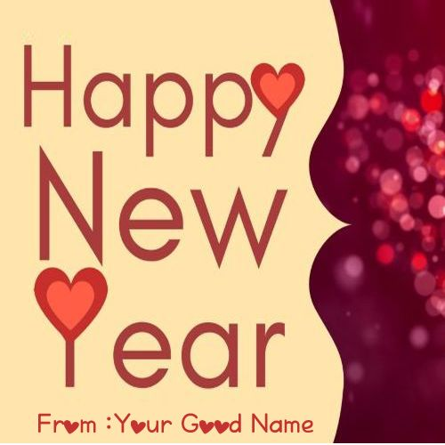 Love Name Happy New Year 2020 Wishes Image
