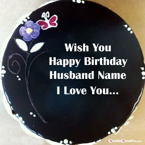 Brilliant Black Forest Birthday Cake For Husband Name Wishes Photo Funny Birthday Cards Online Fluifree Goldxyz