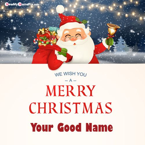 Wish You Merry Christmas Pictures With Name Create Card
