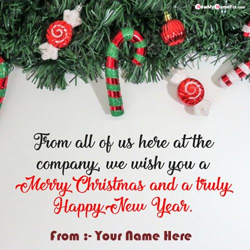 Christmas Greetings Card With Your Name Photo Create Online