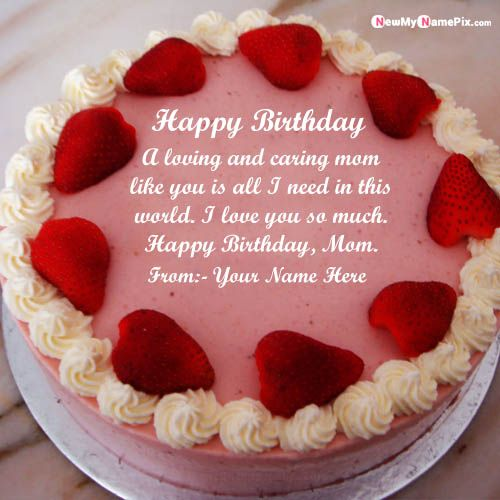 Beautiful birthday cake for mom wishes love messages pictures