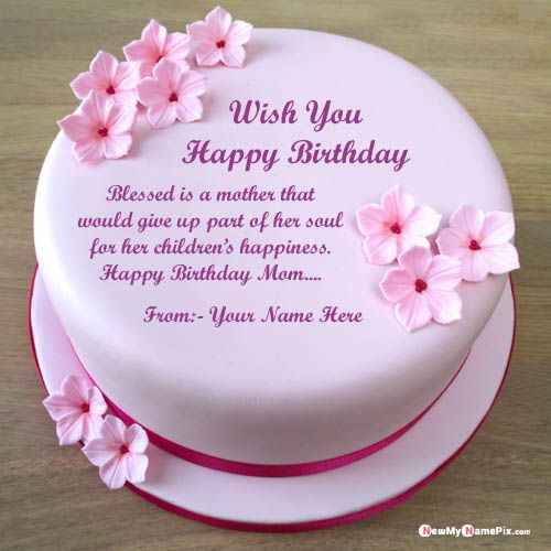 Groovy Write Name On Birthday Cake With Message For Mom Wishes Image Funny Birthday Cards Online Eattedamsfinfo