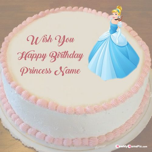 Admirable Princess Birthday Cake With Name Wishes Images Free Create Personalised Birthday Cards Epsylily Jamesorg