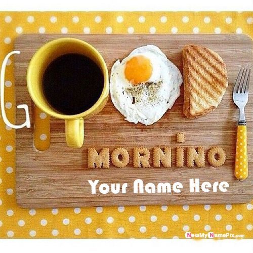 Write name on morning wishes greetings pictures create online free