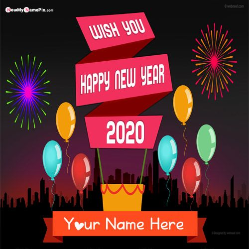 Happy New Year 2020 With Name Wishes