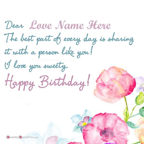 Love birthday greeting with name wishes send picture online