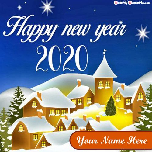 Name Wishes New Year Photo Create Free Online