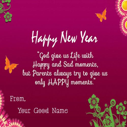 2020 Happy New Year Greeting Card With Name Photo