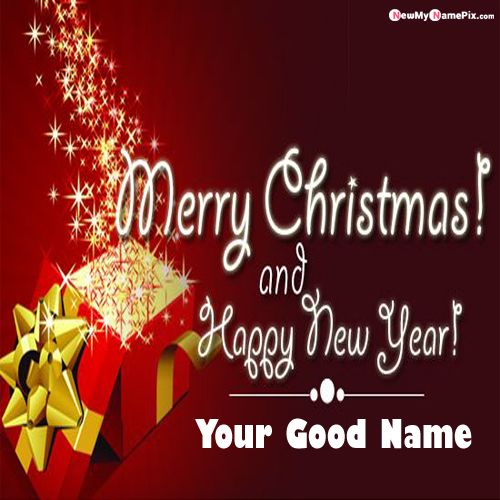 Christmas & New Year 2020 Photo With Name Wishes