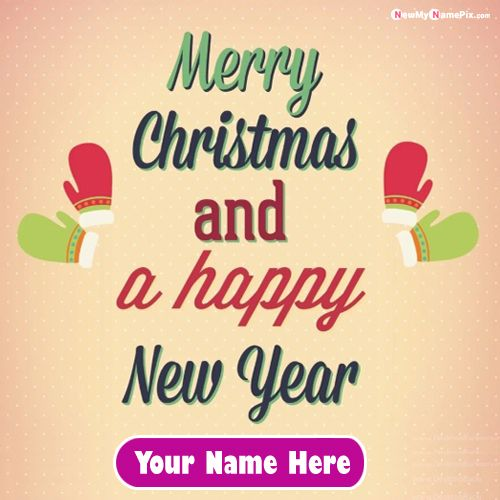 Write Name On Merry Christmas And New Year 2021 Images