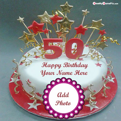 Stupendous 50Th Age Birthday Cake On Write Your Name Pictures Personalised Birthday Cards Veneteletsinfo