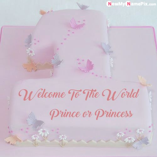 1st birthday welcome cake name image create