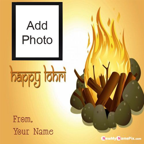 Create Online Name And Photo Lohri Wishes Card Pic