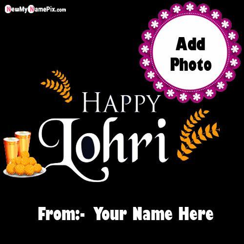 Name & Photo Generate Lohri Wish Card Editor Option Online