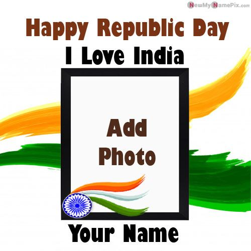 26 January I Love My India Profile With Name & Photo