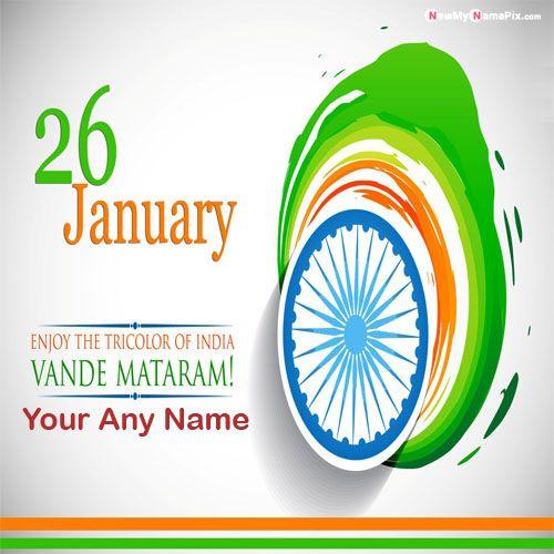 Vande Mataram Quotes Happy Republic Day With Name Images