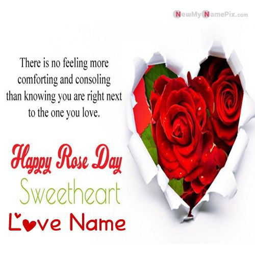 Write Name On Happy Rose Day Greetings Quotes Cards Pictures
