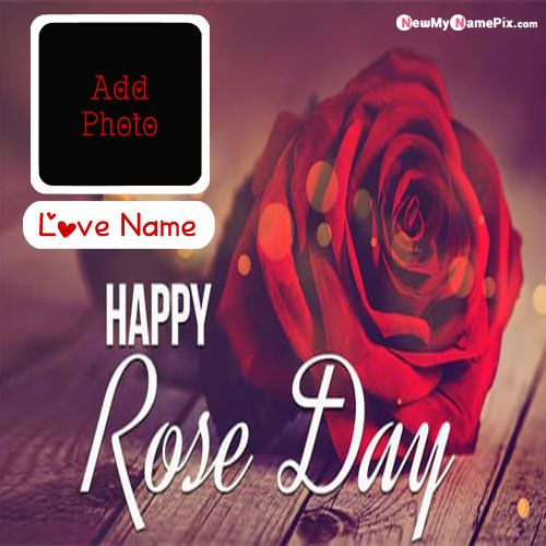 Best Lover Name Happy Rose Day Name And Photo Cards Create