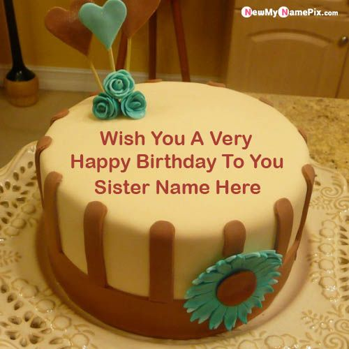 Outstanding Best Name Write Happy Birthday Cake For Special Wishes Sister Funny Birthday Cards Online Eattedamsfinfo