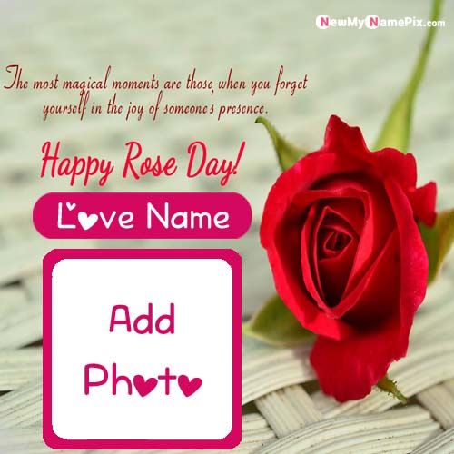 Happy Rose Day Wishes Love Name And Photo Send