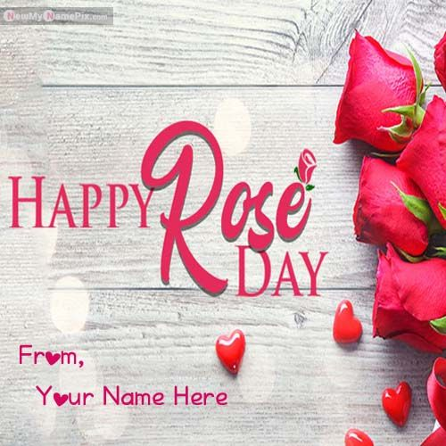 Happy Rose Day With Your Name Wishes Images