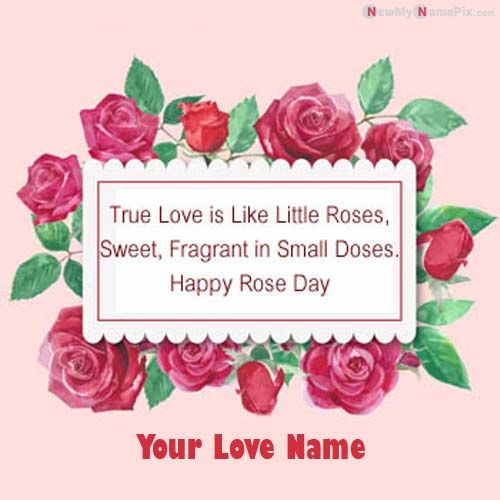 Make Your Lover Name Happy Rose Day Photo Create