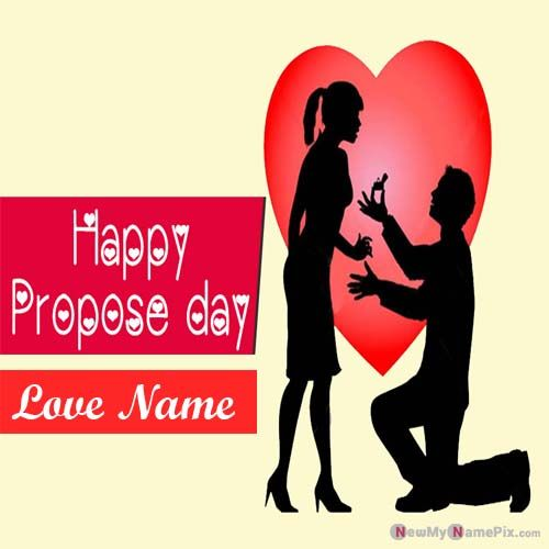 Write Name On Romantic Happy Propose Day Images