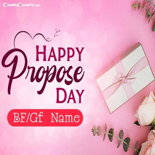 Handsome Boy Propose Name Photo Generated Option