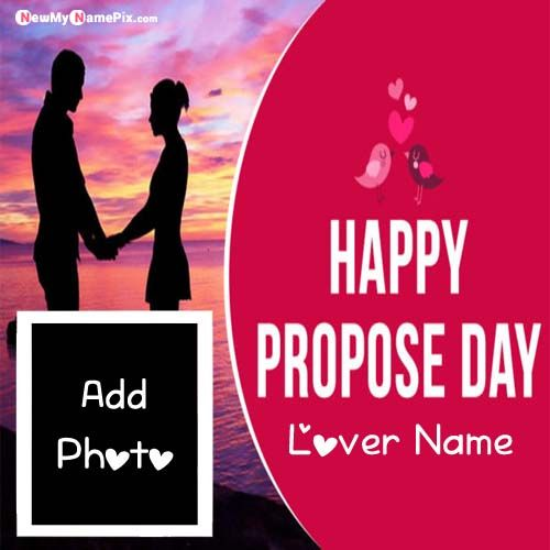 Name And Photo Add Propose Day Romantic Love Pictures Creating